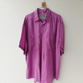 Vintage silkeskjorte str L