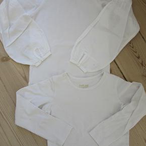 2 stk. hvide Pompdelux bluser, str. 5-6. Kun brugt ganske få gange. Sælges samlet for 100 kr. pp, men KUN via Mobilepay.