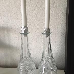 Vaser brugt som lysestage