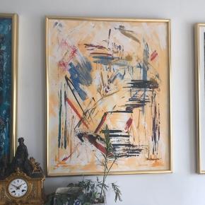 3 Poul Glargaard oliemaleri - abstrakt 67x84 katalog pris  for en 12.000,-