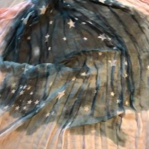 Lækkert tynd og blødt tørklæde. 10% uld og 90% modal (silketype). Flot stand. Brugt sparsomt