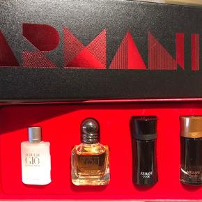 Giorgio Armani miniatures for men. 1 x 7ml 1 x 5ml 1 x 4ml 1 x 4ml Prisen er fast.