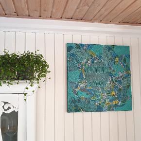 Unikt håndlavet maleri mix media 60×60cm  Titel: Secrets   Afhentes  Instagram @randiskunstgalleri.dk  #kunst #maleri #indretning
