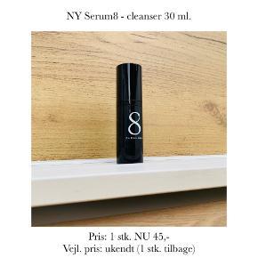 NY Serum8 - cleanser 30 ml.   Pris: 1 stk. NU 45,-  Vejl. pris: ukendt (1 stk. tilbage)   Se også over 200 andre nye produkter, som jeg har til salg herinde :-)