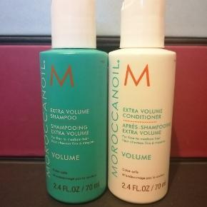Ekstra volume shampoo og conditioner fra Moroccanoil. 70 ml i hver. (rejsestørrelse).  Nye og uåbnede.  Prisen er for dem begge