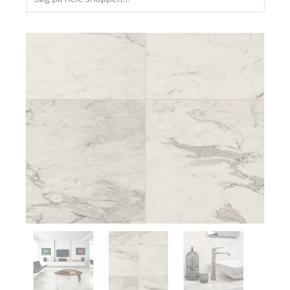 Carrara hvid marmor klinke fra Mosaikhjørnet 5 overskydende klinker af 60x60 cm