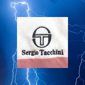 Sergio Tacchini polo med gule og lyserøde striber  ❌ læs min shop beskrivelse ❌
