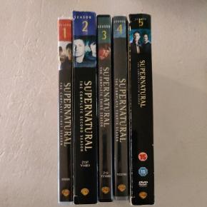 Supernatural sæson 1-5 sælges.