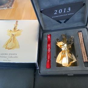 George Jensen juleuro i original æske med 2 farver bånd =indlægsseddel -samt med papæske  2013 ENGEL. I guld  Sender + Porto  #30daysselout