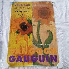Plakat med kunstnerne Van Gogh og Gauguin  Måler 63 x 93 cm  Jeg sælger ud af min families store samling af plakater, der er samlet over mange år  Alle plakater er kun til afhentning på Teglholmen