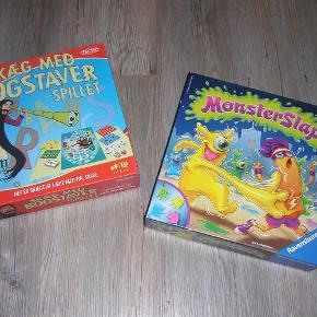 Brand: Skæg med bogstaver og Monsterslap Varetype: brætspil Størrelse: Børnespil Farve: Se billed  Sælger disse 2 børne brætspil til 55,- per stk. Monsterslap er kun spillet en gang. Skæg med bogstaver et par gange. Sendes med GLS.