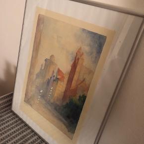 41 x 51 cm inklusiv ramme.   Akvarel tryk signeret af O. Svensen.