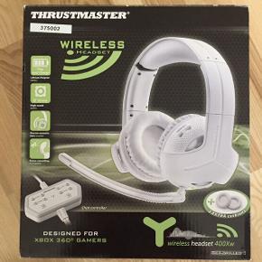 Trådløst headset fra Thrustmaster. Aldrig brugt. Nypris: 1798,- (Pricerunner) Kom med et bud :-)