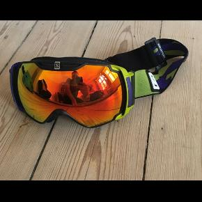 Skibriller fra Salomon  Nypris 2200kr Pris 500kr De har en meget lille ridse i venstre glas   #Skirbriller #Ski #Briller #Vinter #Skisport