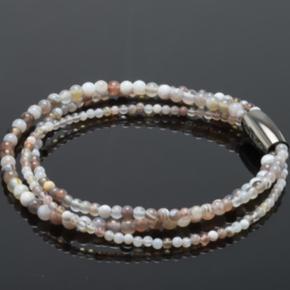 Virkelig flot armbånd med Ocean Jasper perler.   Længde ca. 19 cm  Nyt og ubrugt.