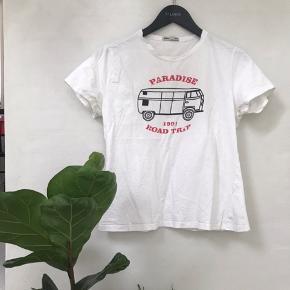 Hvid t shirt med print
