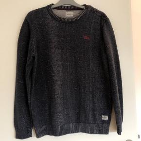 Jack & Jones blåmeleret sweater str M. Kraftig kvalitet