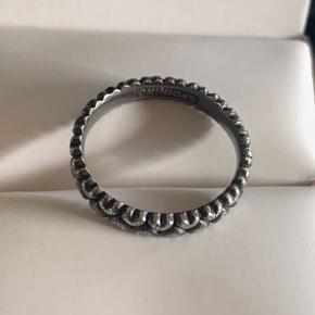 Flot oxyderet sølv ring str 54. Stemplet 925    #30dayssellout