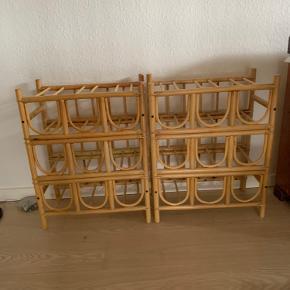 2 stk. retro bambus vinreoler Pr stk 225kr samlet 400kr  60hx46bx24d