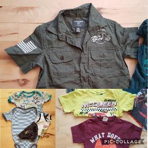 Prisen er for alle 7 dele samlet  skjorte, t-shirts, undertøj og bodystockings Farve: flere