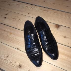 Vagabond loafers i croco skind - brugt 2 gange