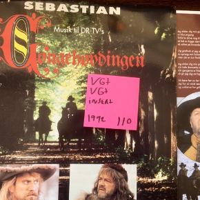 Gøngehøvdingen lp vinyl lp plade med Sebastian ost fra Gøngehøvdingen 1992 sjælden plade i super stand