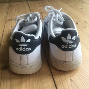 Adidas superstar str 37 1/3. Godt brugte men trænger bare til kærlighed!