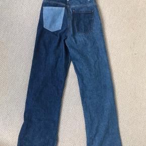 Mega fede cowboy bukser i forskelligfarvet stof! Byd