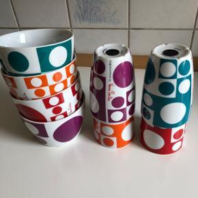 4 skåle og 4 kaffekopper fra mrk. Menu