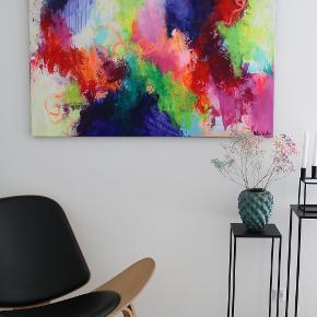 Virkelig smukt abstrakt maleri af billedkunstner Mette Vester. Maleriet måler 90*120cm