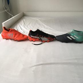 Orange adidas 500krSort Puma 500kr Adidas blå mangler snørrebånd 400kr