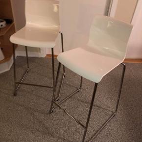 Hvide IKEA barstole  Sælges samlet  Ingen fejl eller skader