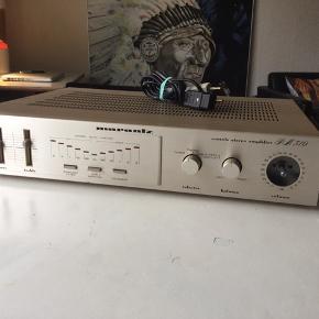 Fin Vintage Marantz PM 310 forstærker, sælges...   . Den er testet efter, og virker som den skal...    Dog mangler volume knappen, som det kan ses..    Ellers i fin, og flot stand..   Sælges billigt pga, ovenstående..     SE OGSÅ ALLE MINE ANDRE ANNONCER.. :D