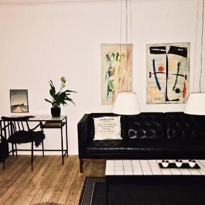 Fint flisebord med hvide fliser og sort fuge  Kan bestilles med hvidt stel og med fliser i din yndlingsfarve ♡    Mål  120x40x40  Afhentning : 2300 KBH S  Ikeahack, Retro, fliser, sofabord, ikon, mosaik, stue, planter