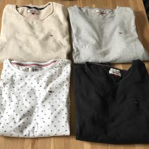 Sælger disse 3 sweaters og 1 t-shirt fra Tommy Hilfiger til herrer.   De er alle en str.L   Tag alle sammen for 295 + fragt🛍  Spørg gerne for mere information eller kom med et bud😊