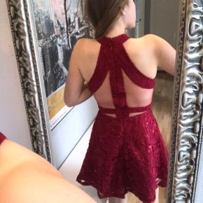 Red dress with cute details