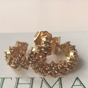 ❤️❤️❤️❤️ Super fine og søde øreringe fra Pico. Riga Crystal Earrings. Øreringene er forgyldt ægte sølv. De har sten i en sart lilla farve. Diameteren er 2 cm, så de kan både bruges til hverdags og festlige anledninger. Byd gerne.