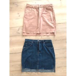 Denim nederdele i lyserød og blå. Aldrig brugt