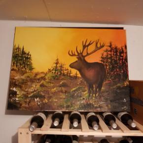 Selbstgemaltes Öl-Bild, grosses Format. Ideal für Kinderzimmer o.ä. :) viel liebe reingesteckt!
