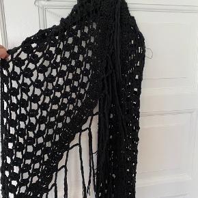 Flot oversize halstørklæde med frynser
