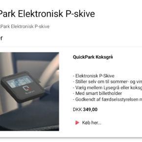 Helt nyt elektronisk parkerings ur.  Stiller selv om til sommer/vinter tid. Nypris 349,- kr.  Sælges til 199,- kr  Det er den Koksgrå model.
