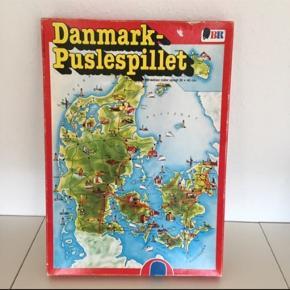 Danmark puslespil, det klassiske Danmarks puslespil fra BR.   Fin stand   Se det er mange andre spil og puslespil Sender gerne