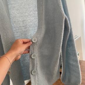 Tyrkis/lyseblå cardigan