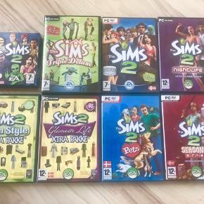 ☘️ The Sims 1 - Triple Deluxe 🌷 The Sims 2 til Gameboy Advance  ☘️ The Sims 2 👉🏼 The Sims 2 - Night Life  👉🏼 The Sims 2 Xtra pakke - Teen style  👉🏼 The Sims 2 Xtra pakke - Glamour Life 👉🏼 The Sims 2 - Pets 👉🏼 The Sims 2 - Seasons  250kr for det hele, ellers 100 kr. pr styk. Rabat gives ved køb af flere spil. Lyngby eller København