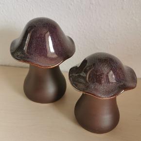 Super flotte pynte svampe Ca 11 og 13 cm høje