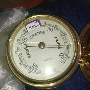 Barometer i messing fra Danbar danmark