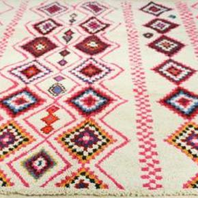 Gulvtæppe, ægte tæppe, uld, b: 150 l: 210 Håndknyttet beni ouarain tæppe fra Marokko. Har aldrig været brugt. Sendes med GLS - porto 100 kr.