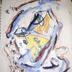 Maleri malet på tykt papir i A3 størrelse Uden ramme  ' No not angry ' Se mine andre malerier på mine andre annoncer :)