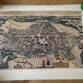 Plakat - ældste kort over Odense. BYD