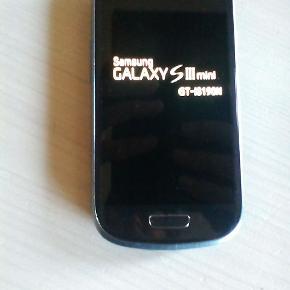Samsung Galaxy S 3 mini.I fin stand.  Desværre uden oplader.  Byd, dog minimum 150 kr.  Kan sendes med GLS eller afhentes i Viborg.